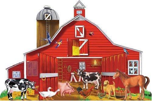 Melissa  Puzzle Para Piso Doug Farm Friends 32 Piezas