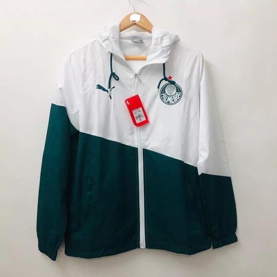 Jaqueta Blusa Corta Vento Palmeiras Puma Verde/branco Promoç