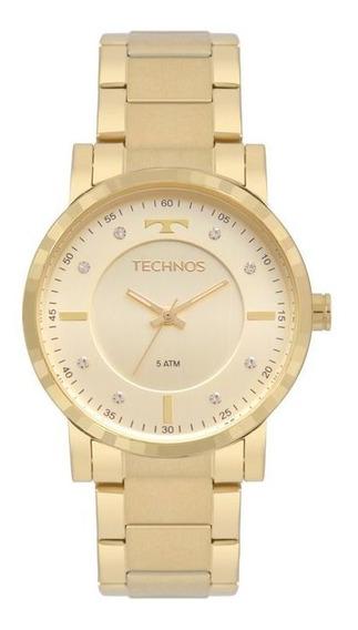 Relógio Feminino Technos Dourado 2036mjs/4x