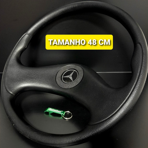 Volante De Caminhão Mercedes Benz Mb 2325 Hpn Black 48 Cm Vc