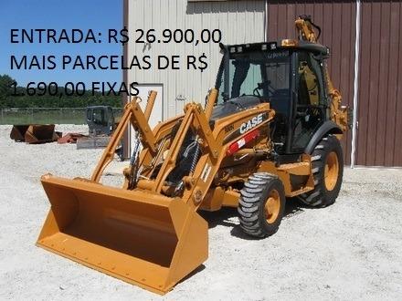 Retroescavadeira Case 580 Cabinada 4x4 2015