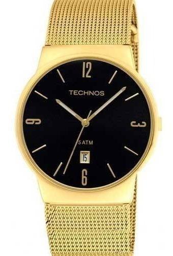 Relógio Technos Masculino Dourado Slim Gm10ih/4p