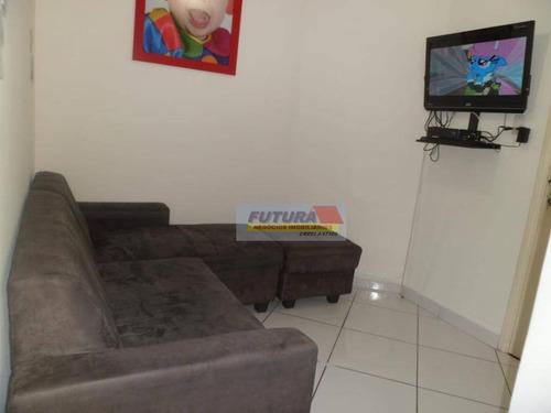 Studio Com 1 Dormitório À Venda, 38 M² Por R$ 200.000,00 - Gonzaguinha - São Vicente/sp - St0367