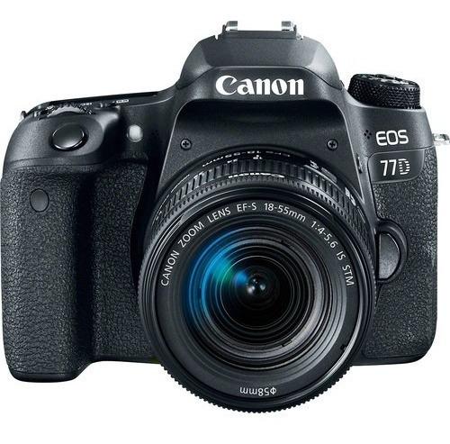 Câmera 77d Lente 18-55mm Canon Lojista Pronta Entrega Barato