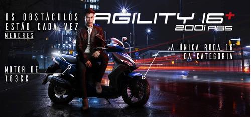 Kymco Agility 16+ 200 0km 2022 Lançamento - Moto & Cia