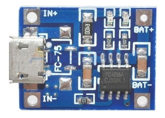 Módulo Placa Carregador Bateria Lítio Usb 4056 Arduino