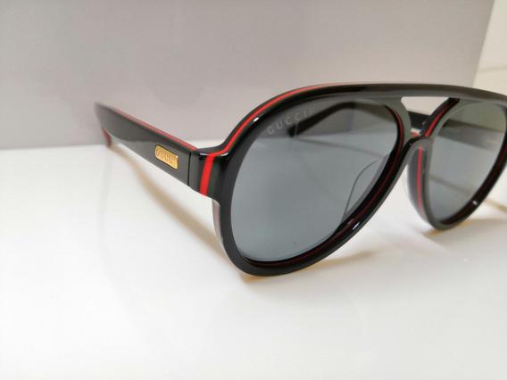 Óculos De Sol Gucci Gg270s Preto E Lente Preta Original