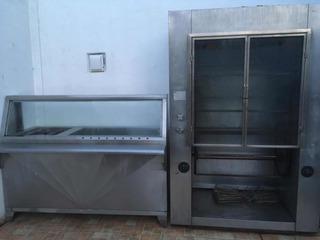 Horno Para 50 Pollos- Refrigerador-barra Caliente Y Tanque G