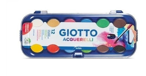 Acuarelas Giotto X 12 Colores + Bandeja + Pincel -original