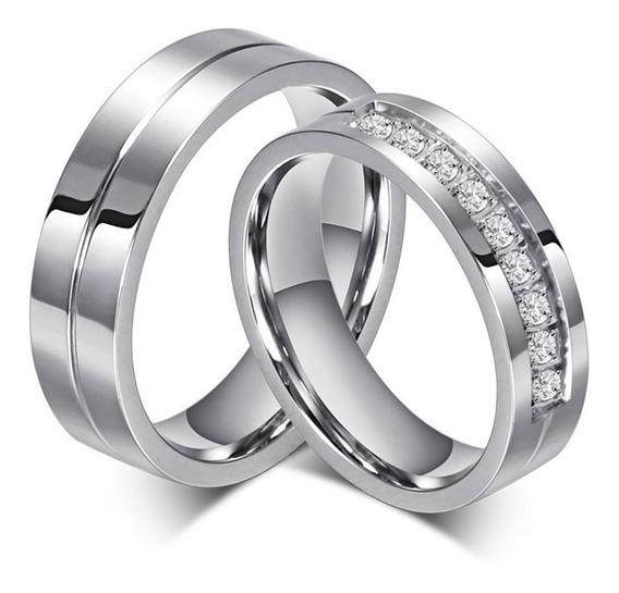Par De Alianças Namoro Casamento Com Cristais