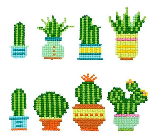 Pcs Cactus Diamante Pintura Pegatinas Para Los Niños Y...