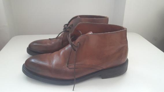 Borcegos Botas Zapatos Cuero Marrón Hombre Lopez Taibo Febo