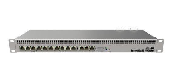 Roteador MikroTik RouterBOARD RB1100AHx4 prata 110V/220V