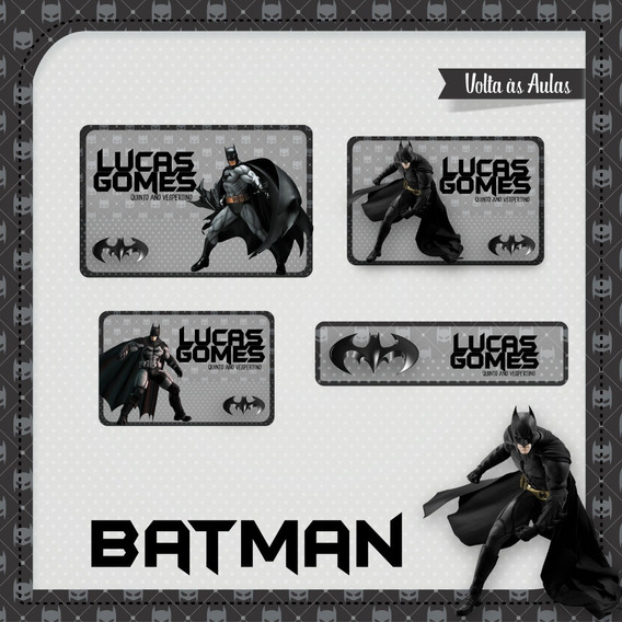 25 Etiquetas Escolares Batman