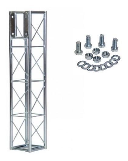 Torre Treliça A20 Q20 1m C/ Face Aço Galvanizado Estrutural