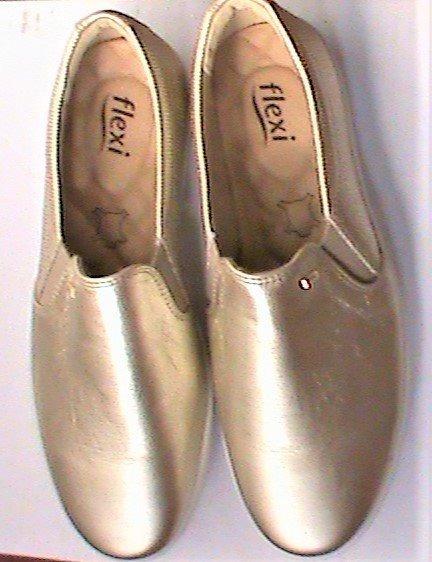Zapatos Comodos Flexi Dorados # 5.5