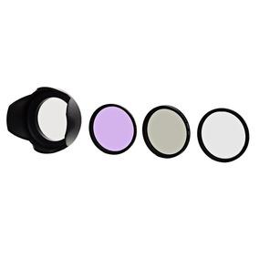 Cpl + Fld Fluorescente + Filtros Polarizadores Uv + Tampa De