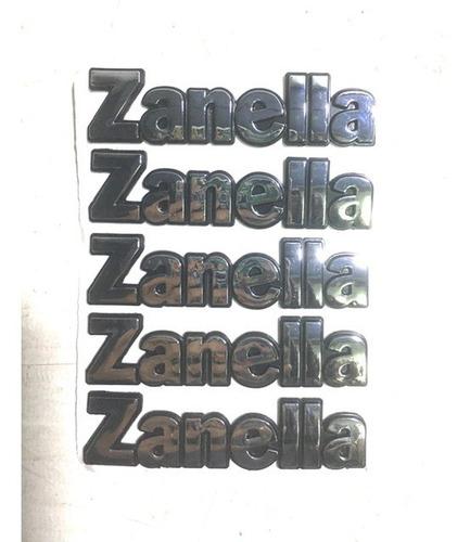 Logo Zanella (en Letras) X 5 Unidades Zanella Mod 150