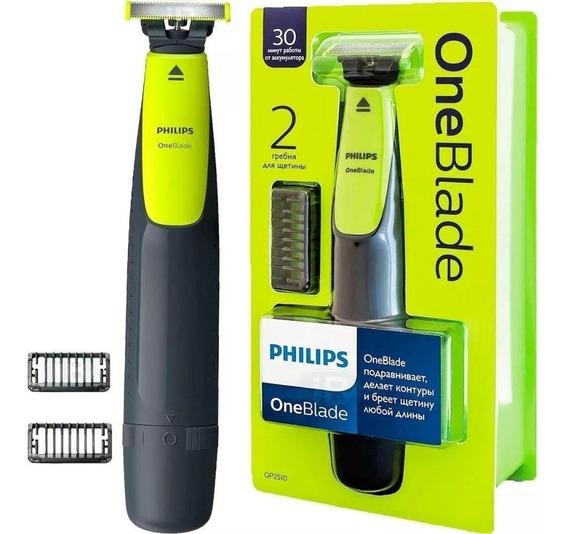 Barbeador Elétrico Philips Oneblade Qp2510/10 One Blade + Nf