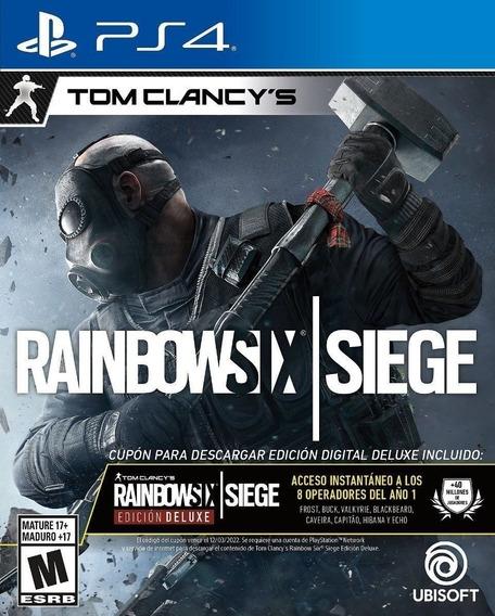 Rainbow Six Siege Físico Deluxe Edition Ps4 + 3 Meses De Psn