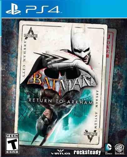 Jogo Mídia Física Batman Return To Arkham Ps4