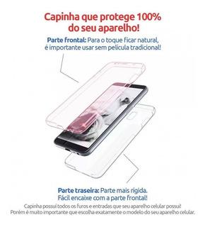 Capinha 360 Case Rosa Galaxy S7 S8 S9 S10 J5 J7 J6 J8 Plus
