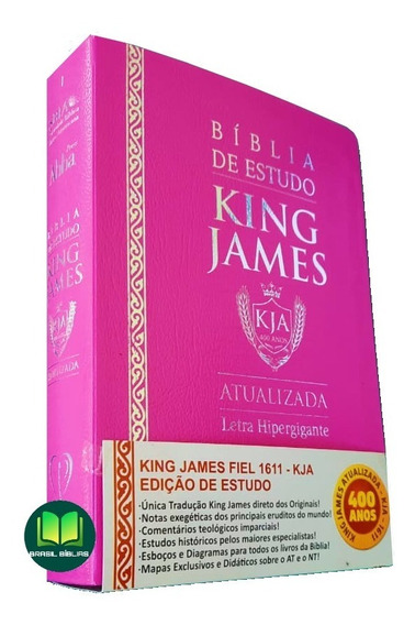 Bíblia King James Atualizada De Estudo Feminina