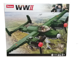 Juego Niños Lego Armable 3d Bombardero Aliado