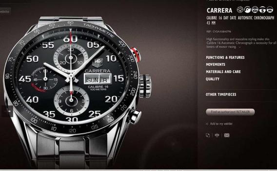 Tag Heuer Carrera Calibre 16 Cv2a10 Ewv4075