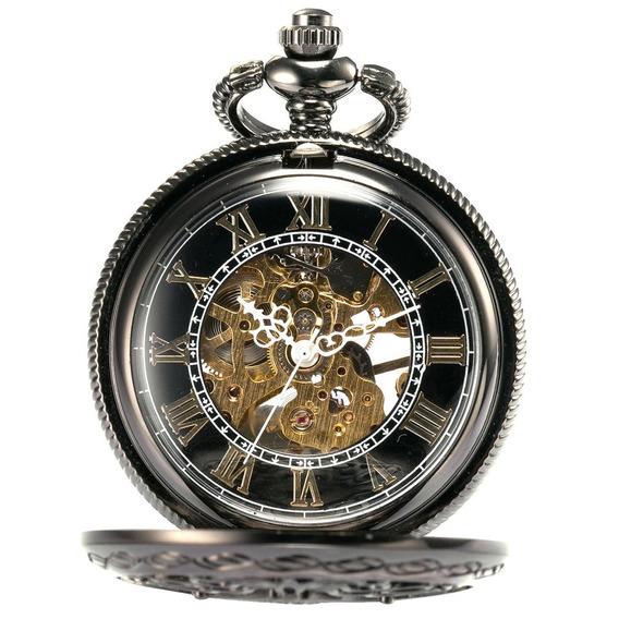 L123 Romano Digital Mecânico Bolso Relógio Bolso Relógio Ant