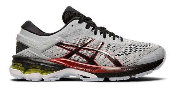 Zapatillas Asics Gel Kayano 26 Hombre Gris/rojo Running