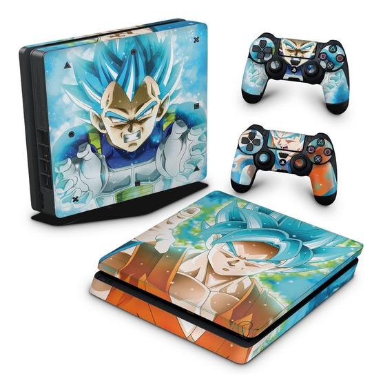Skin Ps4 Slim Adesivo Playstation 4 Dragon Ball Super