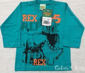 Roupa Infantil - Camiseta Masculina Tamanho 6-9 Meses