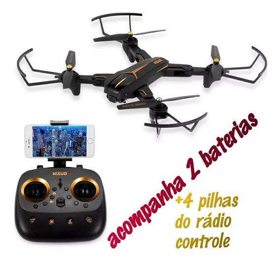 Drone Visuo Xs812 Gps 5g Wifi Camera Hd 5mp Lancamento 2 Bat