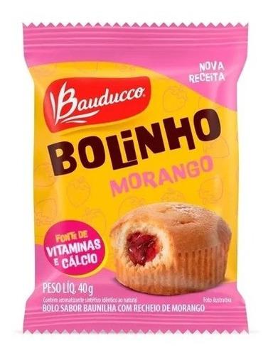 Imagem 1 de 1 de Bolinho De Baunilha Com Morango Bauducco 40g