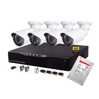 Cctv Kit De Seguridad 4 Cam Hd 720p Con Disco 1tb