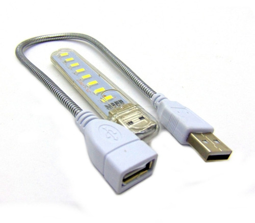 Lampara Flexible 8 Led Usb Laptop Pc