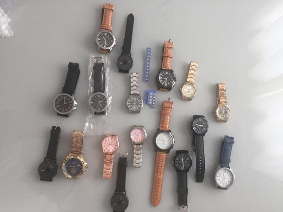 Promoção 17 Relógios Kit Atacado Revenda Lote Diversos