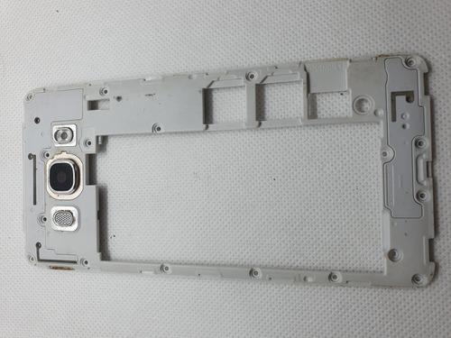 Carcaza Trasera Vidrio Lente Samsung J5 Metal Usado Repuesto