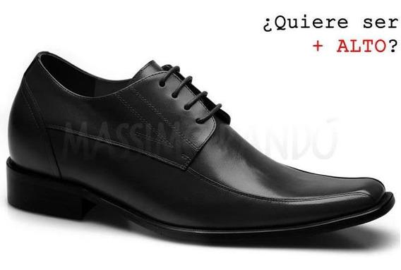 Bocaccio Negro 7cm Zapatos Hombre Formal Realce Interior