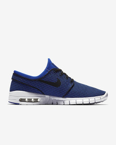Tênis Nike Sb Stefan Janoski Max De Skate Azul Original