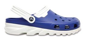 Zapato Crocs Caballero Duet Max Clog Azul/blanco