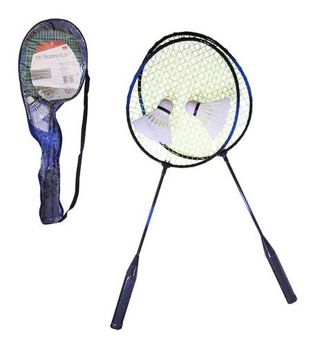 Raquete Badminton Esporte Com 2 Raquetes 2 Petecas E Bolsa