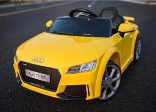 Carro Elétrico Infantil Audi Tt Rs Controle Remoto Amarelo