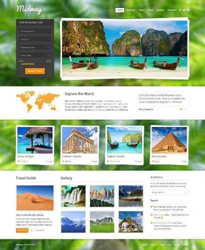 Site Agência De Turismo E Viagens - Tema Midway