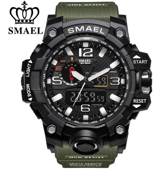 Relógio Masculino Smael Original Militar Led A Prova D