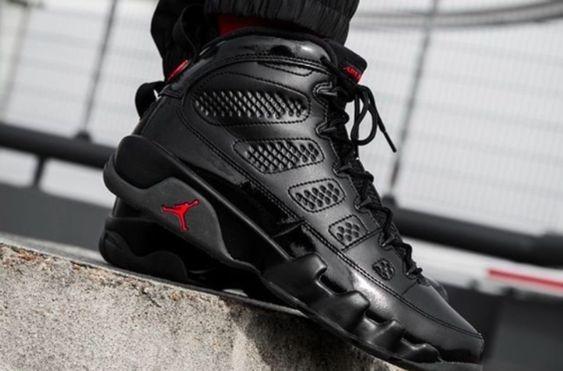 Tenis Nike Air Jordan 9 Bred Negros Originales Negros Rojos