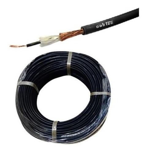 Rollo 50m Cable Mono Audio Sonido Microfono 6mm Cabtec