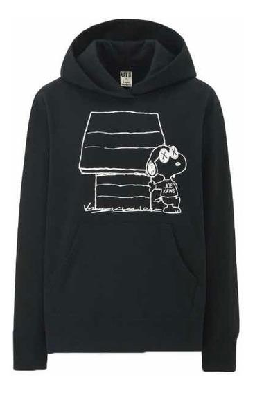 Hoodie Kawx X Peanuts Snoopy Negra Black Original Y Garantiz