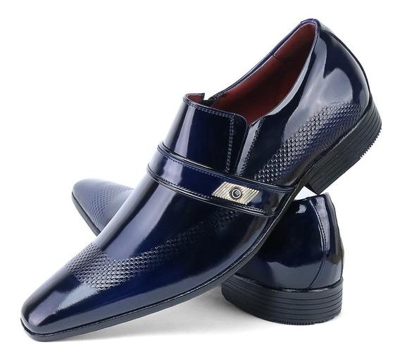 Sapato Social Masculino Envernizado Fivela Confort Original